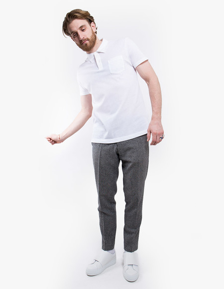 Sunspel Short Sleeve Riviera Polo - white