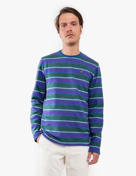 Tres Bien Merch Army Sweatshirt - Purple Stripe