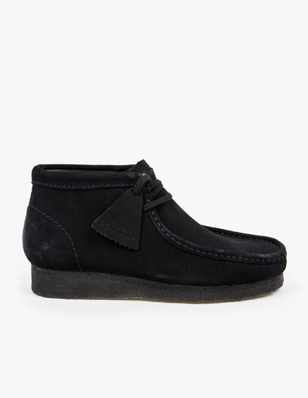 Clarks Originals Wallabee Boot - Black Suede