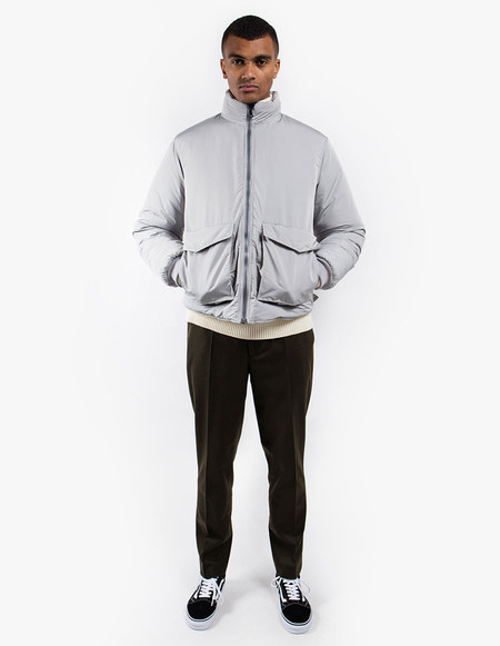 Our Legacy Puffed Funnel Jacket Silver Bullet