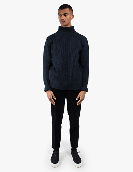 Andersen-Andersen Navy Turtleneck Symmetrical
