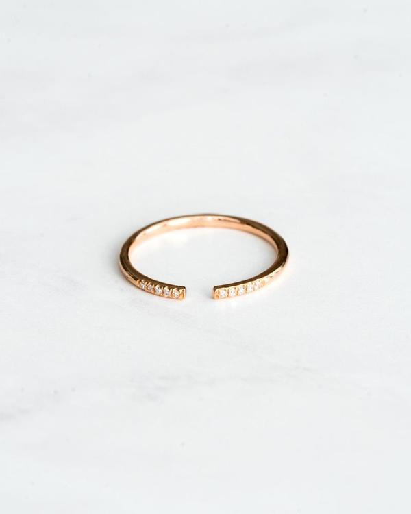Seldom Seen Open Diamond Ring Rose Gold