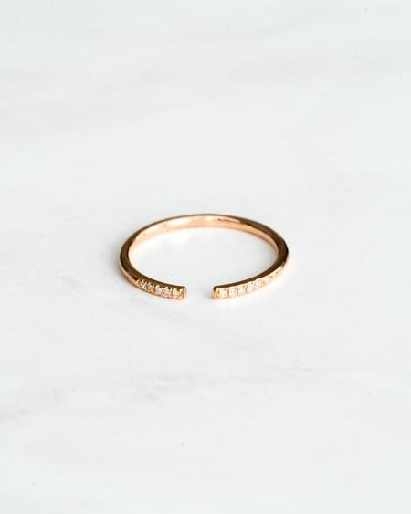 Seldom Seen Open Diamond Ring - Rose Gold