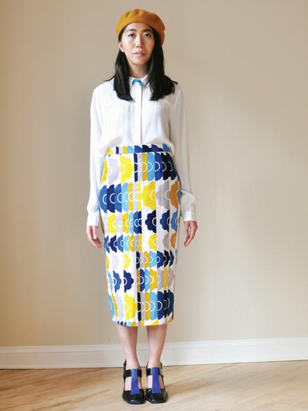 One Imaginary Girl Loved Floral Midi Skirt