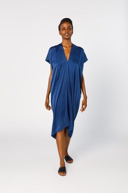 Miranda Bennett Ed. VIII Everyday Dress - Silk Charmeuse in Dark Indigo