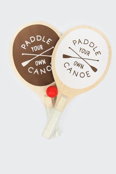 IZOLA Paddle Your Own Canoe Paddle Ball Set