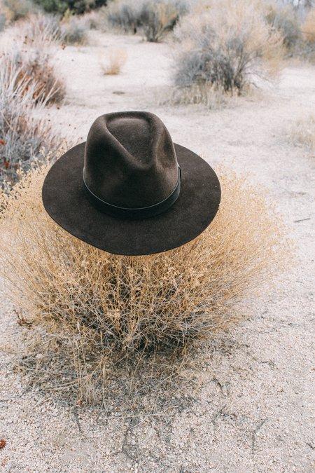 Lykke Wullf Gladys Tamez Leather Trim Western Hat