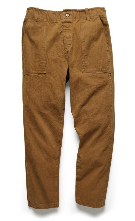 107 Pant in Tobacco Herringbone Twill