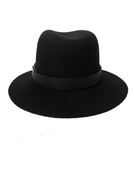 Brookes Boswell Black Wool Jackson Hat