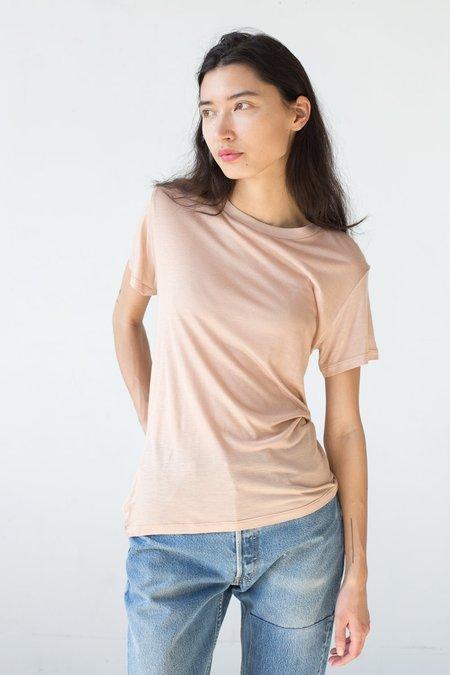Baserange Bamboo Jersey Tee Shirt in Nude