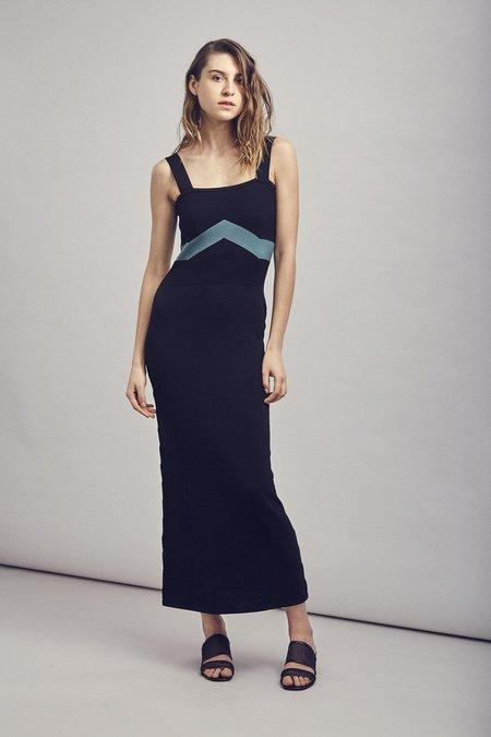 Mila Zovko Luna Dress - Black/Green