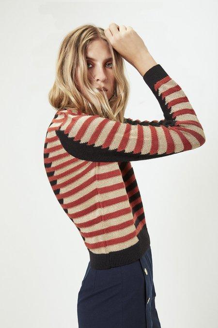 Mila Zovko Natalia Sweater in Rust/Black/Gold