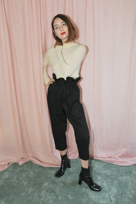 Desiree Klein Oriole Pants in Black Twill