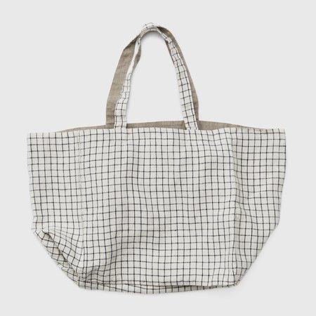 Fog Linen Work Reversible Linen Michael Bag