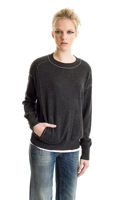 Paychi Guh Cashmere Boyfriend Pullover - Charcoal