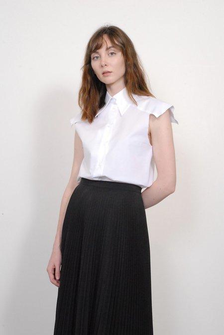 MM6 by Maison Margiela Sleeveless Shirt - White