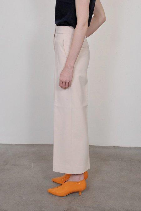 Tibi Anson Pintucked Nerd Pant - Oatmeal