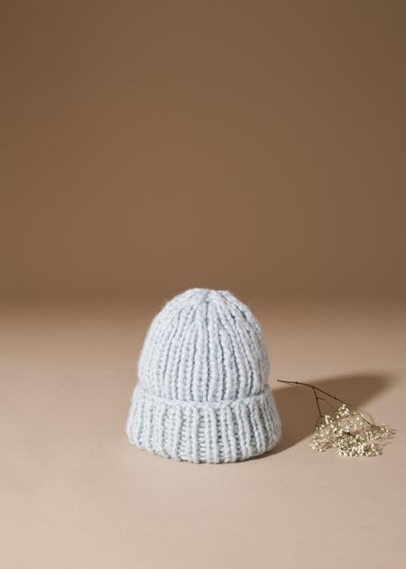Tsuyumi Baby Alpaca Blend Knit Hat - Mint