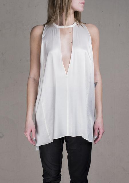 Berenik Shirt Rayon Satin - White