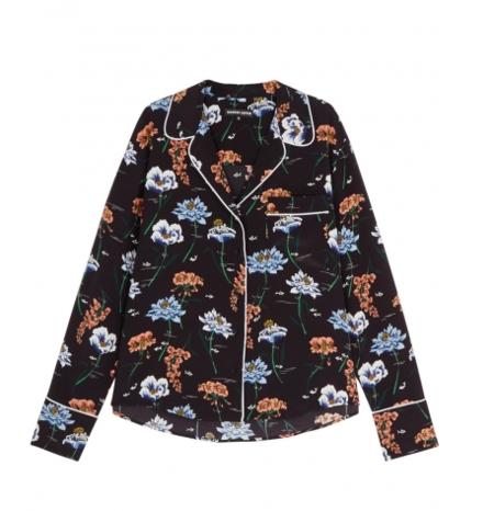 Markus Lupfer Underwater Flower Silk Pyjama Shirt