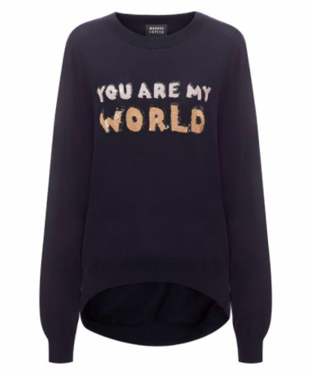 Markus Lupfer You Are My World Sequin Joey Jumper