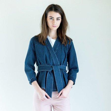 Apiece Apart Carina Wrap Jacket in Denim