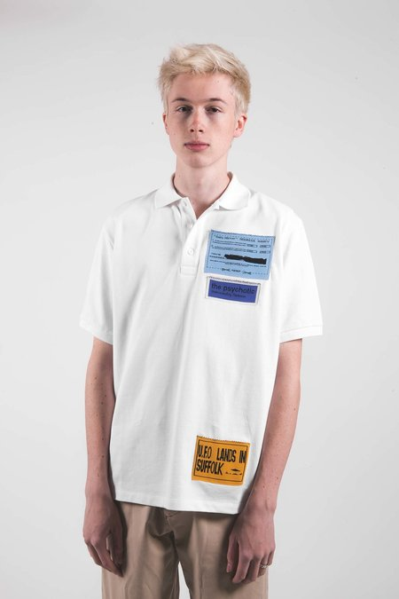 J.W. Anderson ADS Patches Polo - White