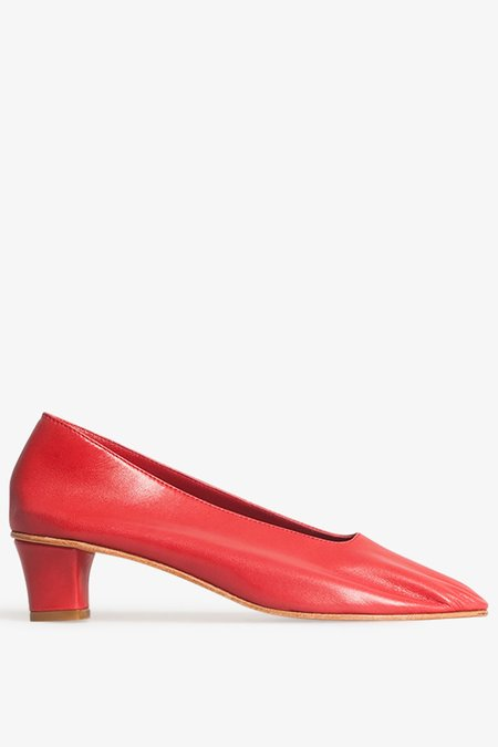 Martiniano Leather Glove Shoe in Red