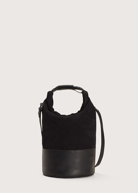 FEIT Small Navy Bag - Black Suede