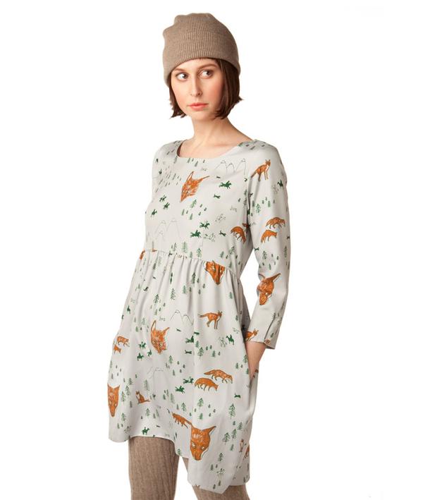 In God We Trust Fox Print Babydoll Dress