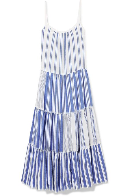 Lemlem Alfie Maxi Slip Dress in Blue