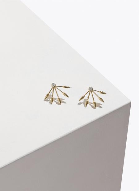 Pamela Love Diamond 5 Spike Earrings