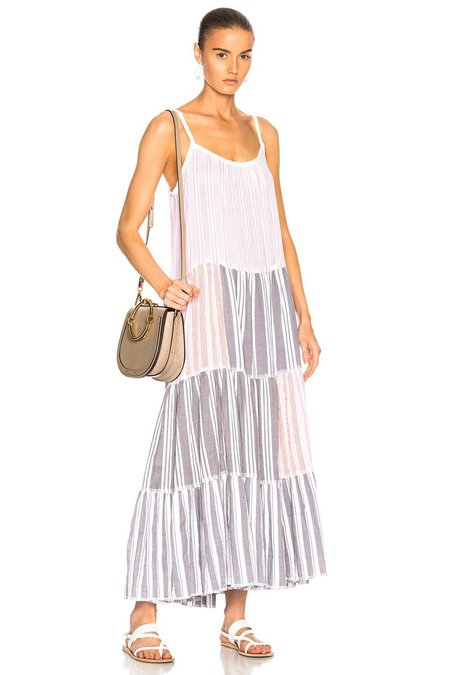 Lemlem Alfie Maxi Slip Dress in Pink