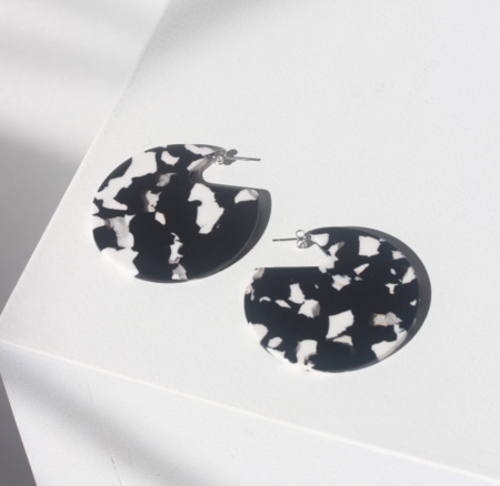 Machete Clare Earrings in Noir