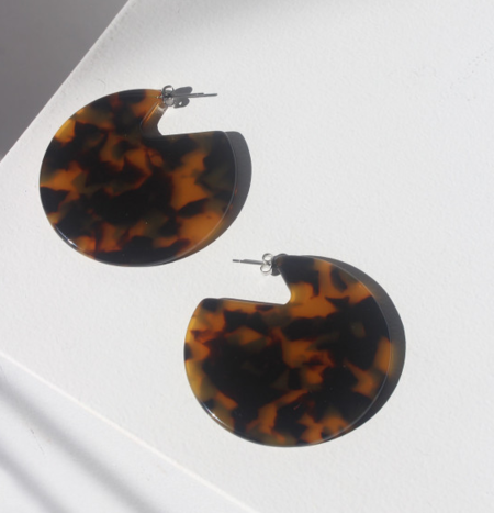 Machete Clare Earrings in Amber Tortoise