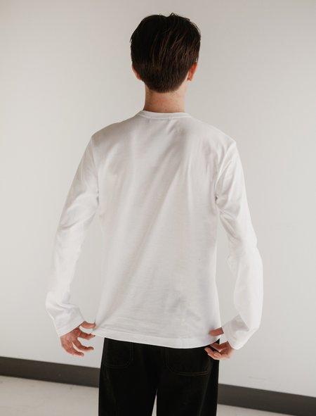 Comme des Garçons Shirt Long Sleeve T-Shirt - White