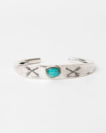 Larry Smith Arrow Cuff - Turquoise Stone