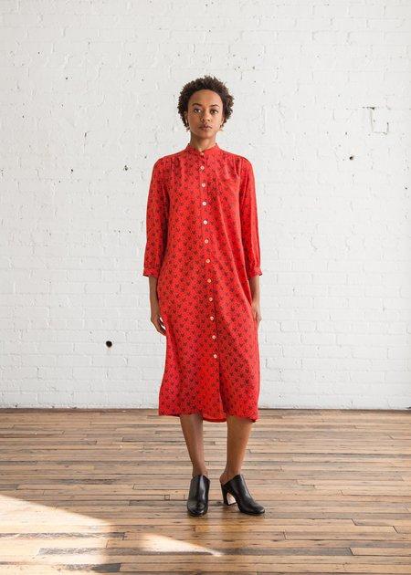 No.6 Elena Shirt Dress Red Floral