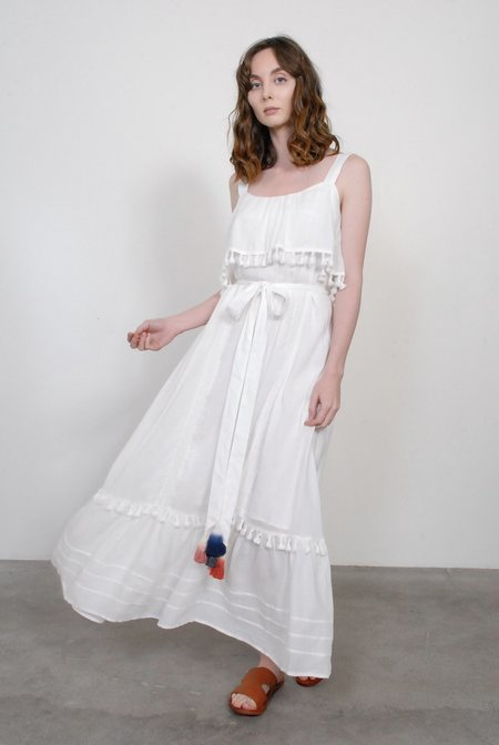 Trovata Birds of Paradis The Alana Sundress - Antique White