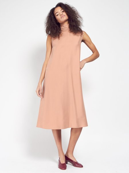 Priory Cowl Dress - Dusty Pink