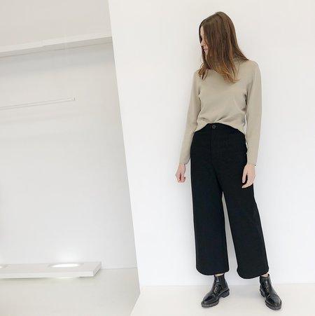 Johan Vintage Beige Silk Turtleneck Sweater