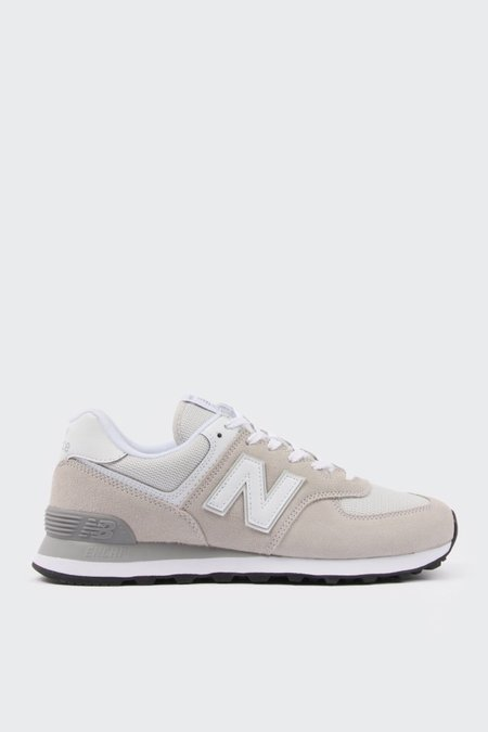 New Balance 574 Classic - white/grey suede