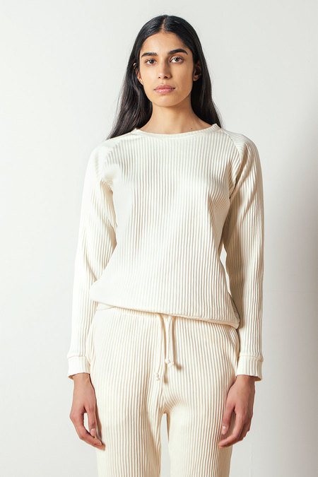 Baserange Basic Sweatshirt Rib in Off-white