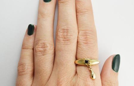 Stefanie Sheehan Brass Teary Eye Ring