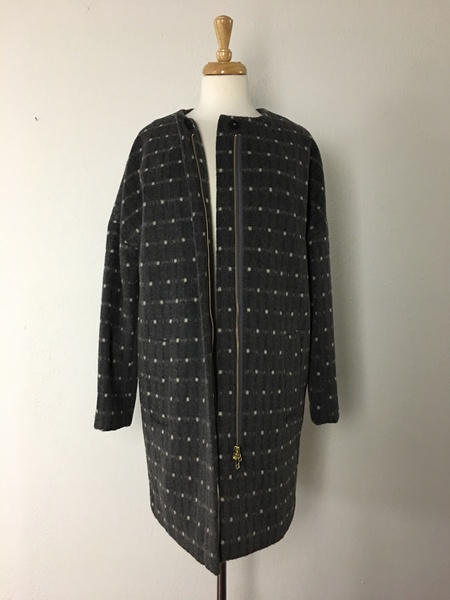 Noa Noa Dotted Wool Coat
