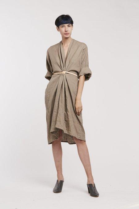 Miranda Bennett O'Keefe Dress Linen in Sardinia