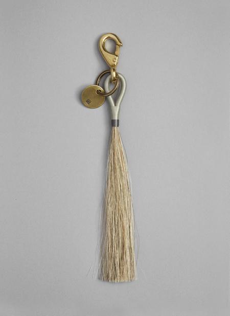 GREI Small Horse Hair Key Chain - Fog/Putty
