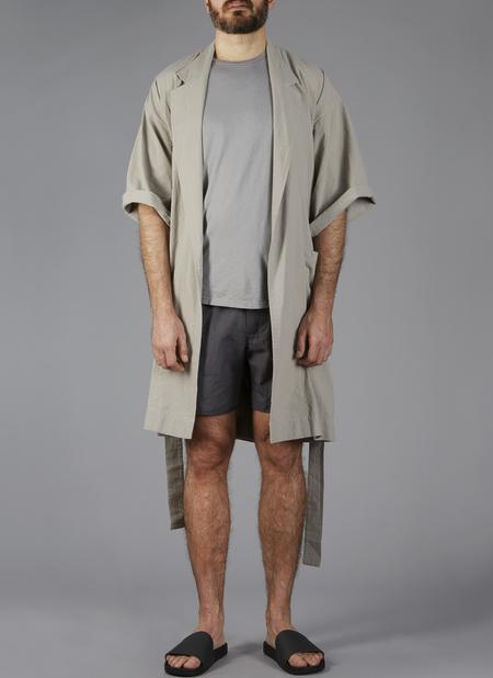 Grei Crinkle Indoor-Outdoor Robe In Putty