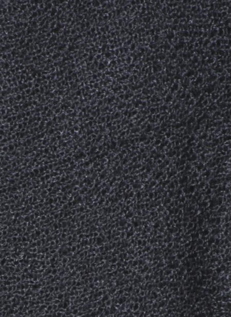 Unisex Grei. Silk Cashmere Circular Scarf - Charcoal