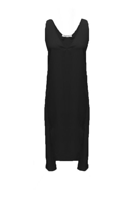 Vincetta Roan Slip Dress - Black